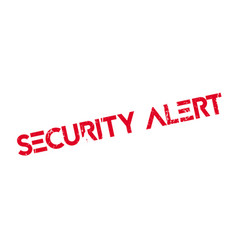Security alert rubber stamp vector