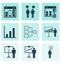 Set 9 administration icons includes system vector