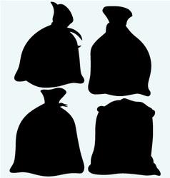 Set sacks of grain vector image
