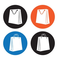 Shopping bag icons vector