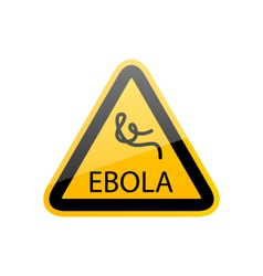 Sign epidemic Ebola danger symbol warning vector