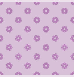Small violet flowers seamless pattern vector