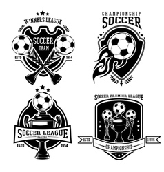 Soccer Black Badges Set vector
