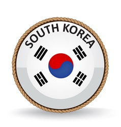 South Korea Seal vector image