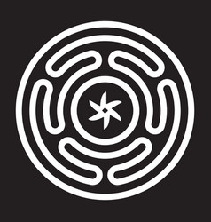 strophalos or hecates wheel emblem vector image