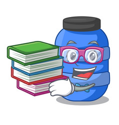 student with book plastic barrel container for vector image