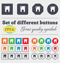 Tooth icon sign Big set of colorful diverse vector image