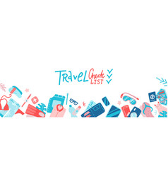 travel check list templae horizontal banner vector image