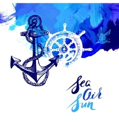 Travel marine background Sea and ocean nautical vector image