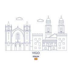 vigo city skyline vector image