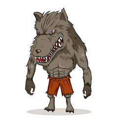 werewolf vector image
