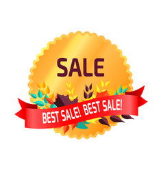 best sale circular sticker on vector image
