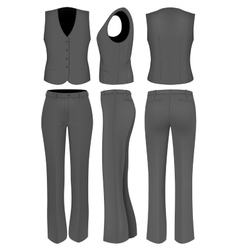 Formal black trousers suit for women vector image vector image