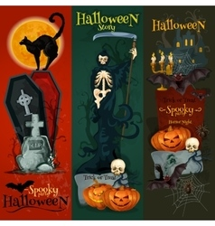 Halloween celebration decorative greeting cards vector image vector image