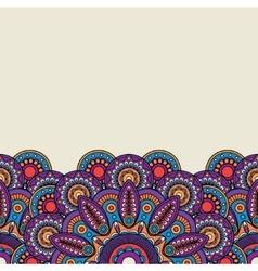 Ornate Indian hand drawn border vector image vector image