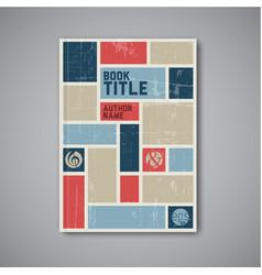 retro abstract brochure design template vector image