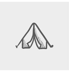 Tent sketch icon vector image