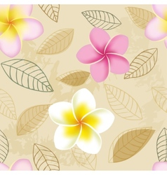 Abstract seamless pattern with plumeria flowers vector image vector image