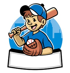 baseball kid vector image