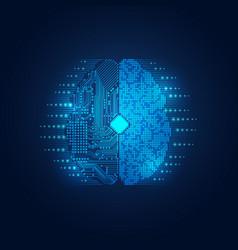 electronic brain vector image
