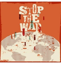 No war Typographic retro grunge peace poster vector image vector image