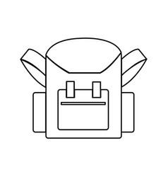 school bag back to school accessory vector image vector image