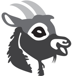 The head of goat 2 vector