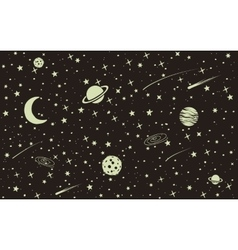Vintage space background vector image vector image
