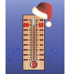 Christmas thermometer vector image vector image