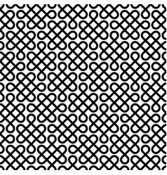 monochrome celtic knotwork seamless pattern vector image