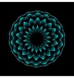Neon flower geometrical sign vector image