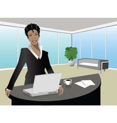office illustration vector image