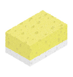sponge isolated on white background isometric vector image