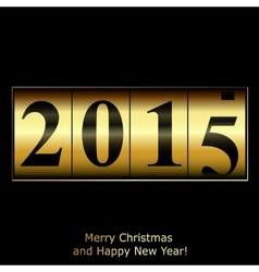 Abstract golden New Year counter vector image