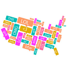 america made out of text messages vector image