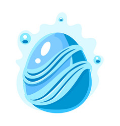Blue egg with bubbles and stripes fantastic vector