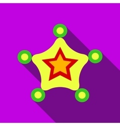 Christmas star icon flat style vector image vector image