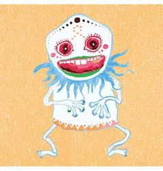 Cute little monster vector image