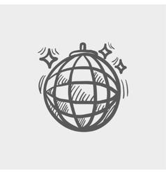 Disco ball sketch icon vector image