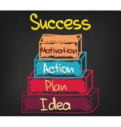 Success chart 4 vector