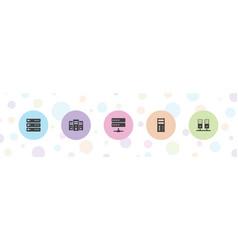 5 backup icons vector