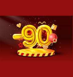 90 off discount creative composition 3d golden vector