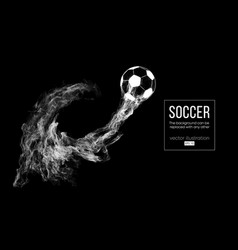 abstract silhouette a football ball on dark vector image