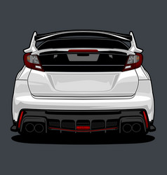 Back view car 3 vector
