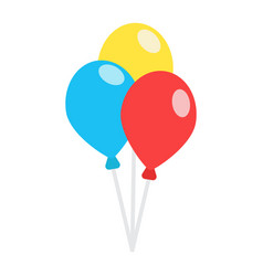 ballons flat icon party and holiday vector image