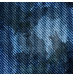 Blue jean texture background vector