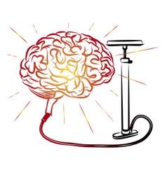 brain and pump pump brains motivator vector image