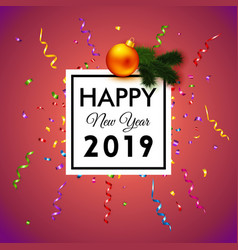 bright happy new year 2019 vector image