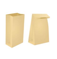 Brown paper bag vector