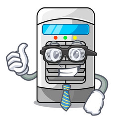Businessman air cooler at character table vector